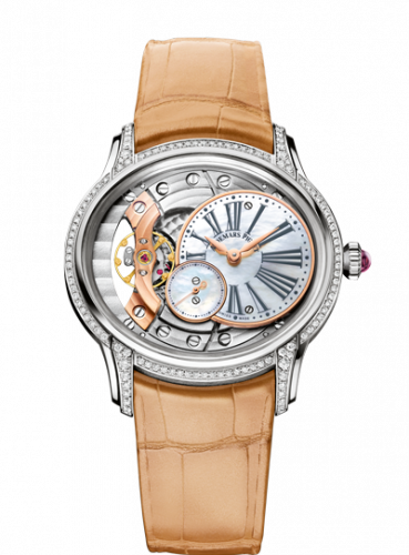 77247BC.ZZ.A813CR.01 : Audemars Piguet Millenary Hand-wound White Gold / Mother of Pearl