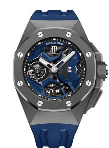 26589IO.OO.D030CA.01 : Audemars Piguet Royal Oak Concept GMT Tourbillon Titanium / Blue