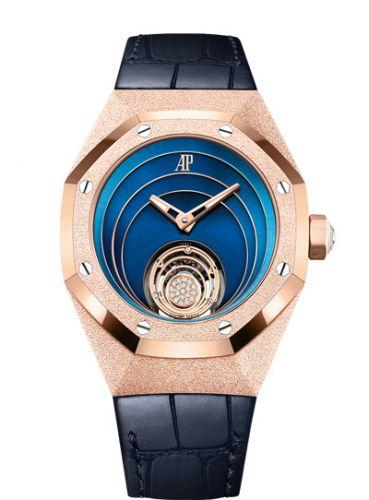 26630OR.GG.D326CR.01 : Audemars Piguet Audemars Piguet Royal Oak Concept Frosted Gold Flying Tourbillon Pink Gold / Blue