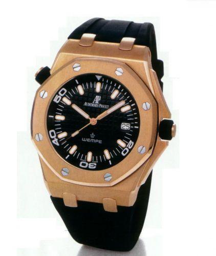Audemars Piguet 15340OR.OO.D002CA.01 : Royal Oak OffShore 15340 Scuba Wempe Pink Gold
