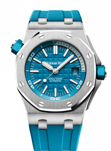 Audemars Piguet 15710ST.OO.A032CA.01 : Royal Oak Offshore Diver Stainless Steel / Turquoise