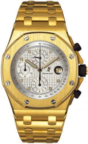 Audemars Piguet 25721BA.O.1000BA.03 : Royal Oak OffShore 25721 Chronograph Yellow Gold / Silver
