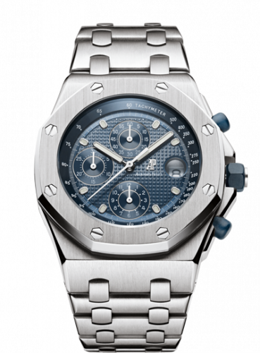 Audemars Piguet 25721ST.OO.1000ST.01 : Royal Oak OffShore 25721 Chronograph Stainless Steel / Blue