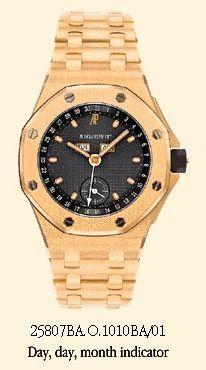 Audemars Piguet 25807BA.O.1010BA/01 : Royal Oak OffShore 25807 Full Calendar Yellow Gold / Blue / Bracelet
