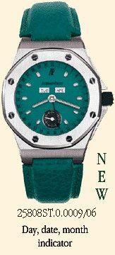 Audemars Piguet 25808ST.O.0009/06 : Royal Oak OffShore 25808 Full Calendar Turquoise
