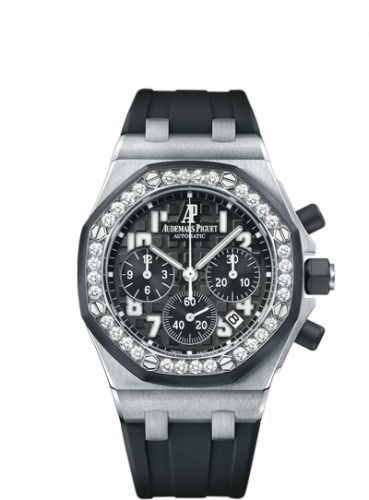 Audemars Piguet 26048SK.ZZ.D002CA.01 : Royal Oak OffShore 26048 Lady Chronograph Stainless Steel / Black