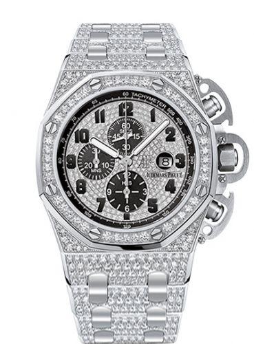 Audemars Piguet 26215BC.ZZ.1239BC.01 : Royal Oak OffShore 26215 T3 White Gold / Diamond / Bracelet