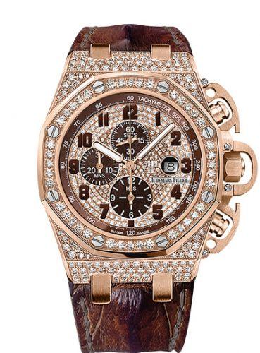 Audemars Piguet 26215OR.ZZ.A801CR.01 : Royal Oak OffShore 26215 T3 Pink Gold / Diamond