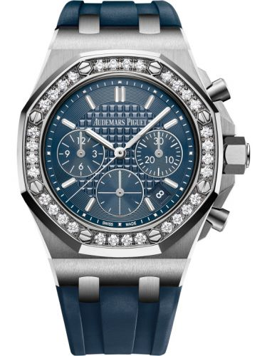 Audemars Piguet 26231ST.ZZ.D027CA.01 : Royal Oak OffShore 26231 Lady Chronograph Stainless Steel / Blue / Diamond