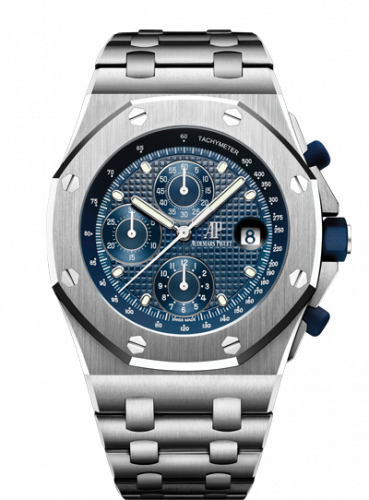 26237ST.OO.1000ST.01 : Audemars Piguet Royal Oak Offshore 26237 Stainless Steel / Blue / Bracelet / 25th Anniversary