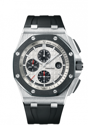Audemars Piguet 26400SO.OO.A002CA.01 : Royal Oak Offshore 44 Stainless Steel / Ceramic / Silver / Rubber