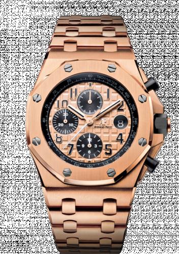 Audemars Piguet 26470OR.OO.1000OR.01 : Royal Oak Offshore 26470 Pink Gold / Pink Gold / Bracelet