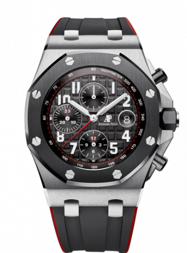 Audemars Piguet 26470SO.OO.A002CA.01 : Royal Oak Offshore 42 Stainless Steel / Ceramic / Black / Rubber