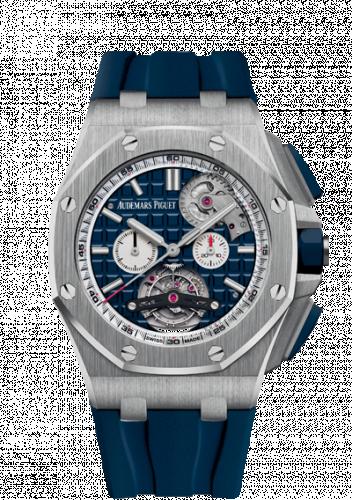 Audemars Piguet 26540ST.OO.A027CA.01 : Royal Oak Offshore Tourbillon Chronograph Selfwinding Stainless Steel / Blue