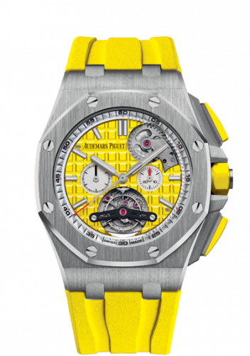 Audemars Piguet 26540ST.OO.A051CA.01 : Royal Oak Offshore Tourbillon Chronograph Selfwinding Stainless Steel / Yellow