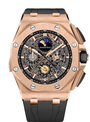 Audemars Piguet 26571OR.OO.A002CA.01 : Royal Oak OffShore 26571 Grande Complication Pink Gold / Black