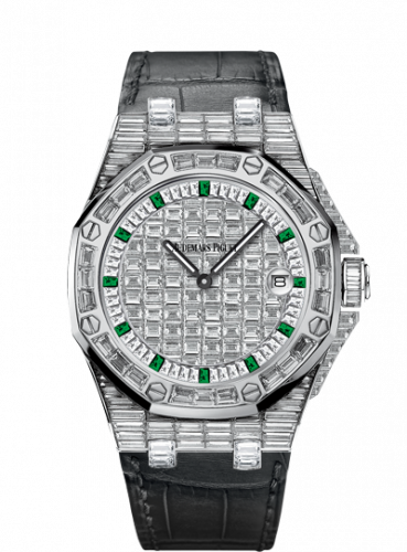 Audemars Piguet 67543BC.ZZ.D002CR.01 : Royal Oak OffShore 67543 Lady Quartz Emerald Hour
