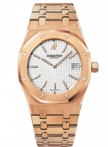 Audemars Piguet 15202OR.OO.0944OR.01 : Royal Oak Extra-Thin Pink Gold / Silver