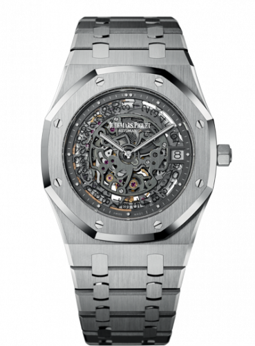 Audemars Piguet 15203PT.OO.1240PT.01 : Royal Oak Openworked 15203 Extra-Thin 40th Anniversary Platinum
