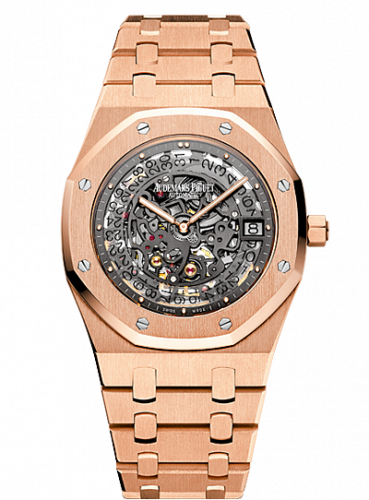 Audemars Piguet 15204OR.OO.1240OR.01 : Royal Oak 15204 Openworked Extra-Thin Pink Gold