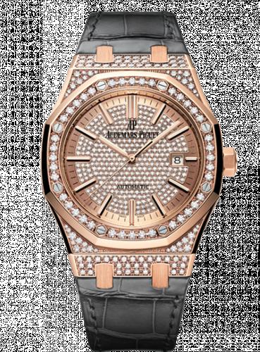 Audemars Piguet 15402OR.ZZ.D003CR.01 : Royal Oak 15402 Pink Gold / Diamond