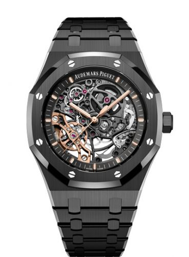 15416CE.OO.1225CE.01 : Audemars Piguet Royal Oak 41 Double Balance Wheel Openworked Black Ceramic
