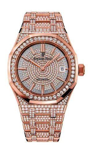 Audemars Piguet 15452OR.ZZ.1258OR.01 : Royal Oak 15452 Selfwinding Pink Gold / Diamond