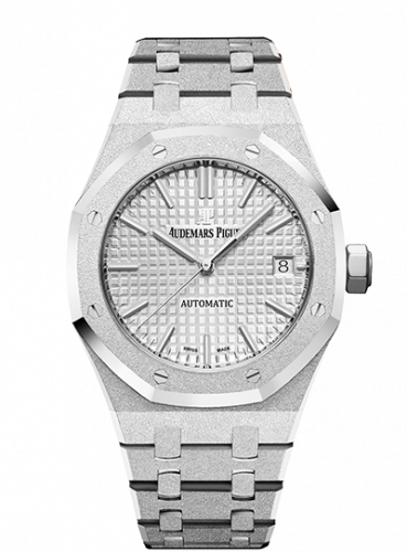 Audemars Piguet 15454BC.GG.1259BC.01 : Royal Oak 15454 Selfwinding Frosted White Gold / Silver