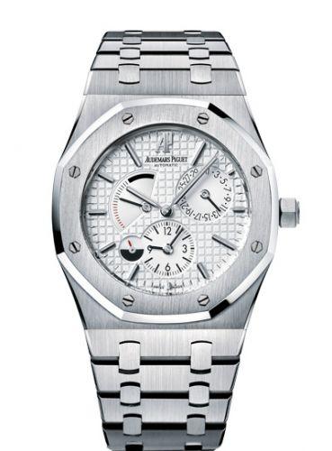 26120ST.OO.1220ST.01 : Audemars Piguet Royal Oak Dual Time Stainless Steel / Silver
