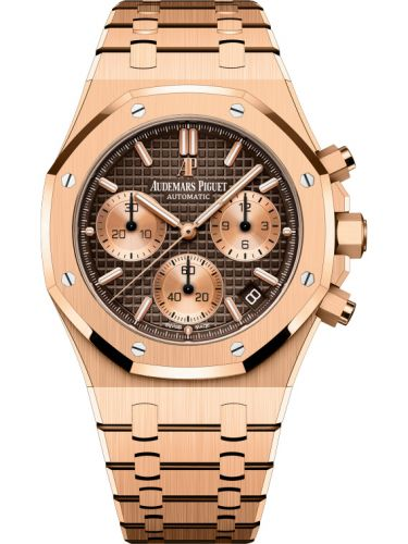 Audemars Piguet 26239OR.00.1220OR.02 : Royal Oak Chronograph 41 Yellow Gold / Brown / Bracelet