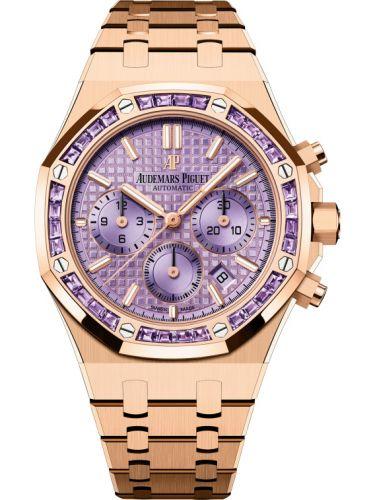 Audemars Piguet 26319OR.AY.1256OR.01 : Royal Oak Chronograph 38 Pink Gold / Amethysts / Purple
