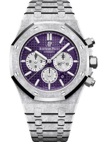 Audemars Piguet 26331BC.GG.1224BC.01 : Royal Oak 41 Chronograph Frosted White Gold / Purple