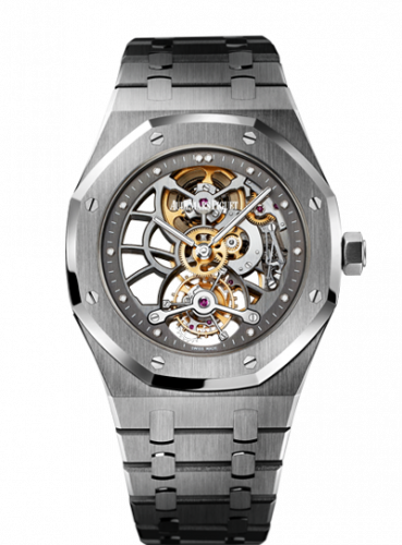 Audemars Piguet 26511PT.OO.1220PT.01 : Royal Oak Ultra Thin Tourbillon Openworked Platinum