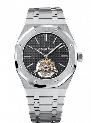 Audemars Piguet 26512ST.OO.1220ST.01 : Royal Oak Ultra Thin Tourbillon Stainless Steel / Black