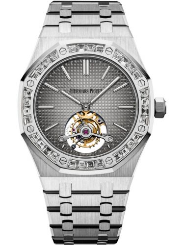 Audemars Piguet 26516PT.ZZ.1220PT.01 : Royal Oak Ultra Thin Tourbillon Platinum / Diamond