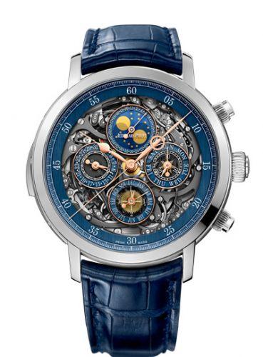 Audemars Piguet 26554PT.OO.D028CR.02 : Jules Audemars Grande Complication Openworked Platinum / Blue