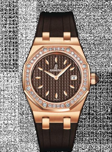 Audemars Piguet 67601OR.ZZ.D080CA.01 : Royal Oak 67601 Quartz Pink Gold / Brown