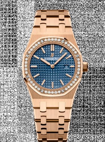 Audemars Piguet 67651OR.ZZ.1261OR.02 : Royal Oak 67651 Quartz Pink Gold / Blue / Bracelet