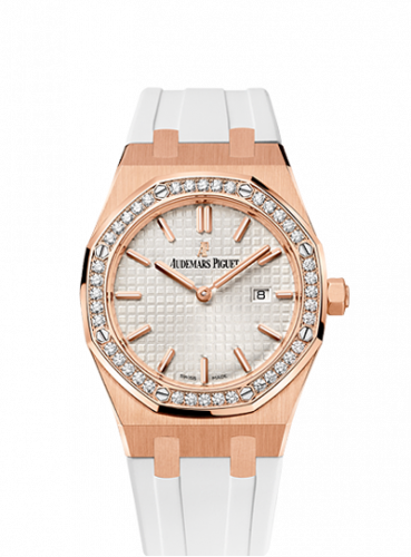 Audemars Piguet 67651OR.ZZ.D010CA.01 : Royal Oak 67651 Quartz Pink Gold / Silver / Rubber