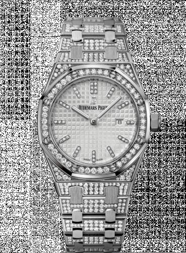 Audemars Piguet 67652BC.ZZ.1262BC.01 : Royal Oak 33 Quartz White Gold / Diamond / Silver / Bracelet