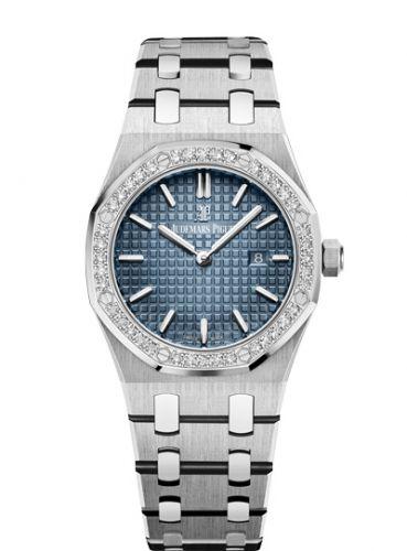 Audemars Piguet 67651IP.ZZ.1261IP.01 : Royal Oak 67651 Quartz Titanium / Platinum / Blue / Bracelet