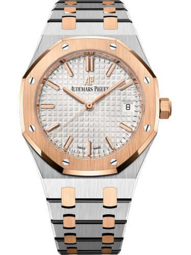 Audemars Piguet 77350SR.OO.1261SR.01 : Royal Oak Selfwinding 34 Stainless Steel / Red Gold / Silver / Bracelet