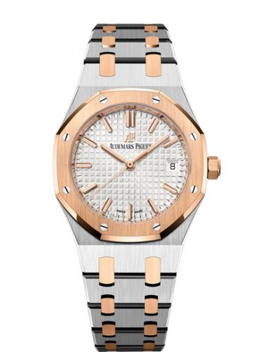 77350SR.OO.1261SR.01 : Audemars Piguet Royal Oak Selfwinding 34 Stainless Steel / Red Gold / Silver / Bracelet