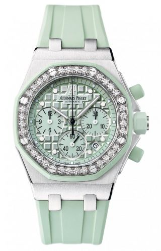 Audemars Piguet 26048SK.ZZ.D035CA.01 : Royal Oak OffShore 26048 Lady Chronograph Stainless Steel / Green