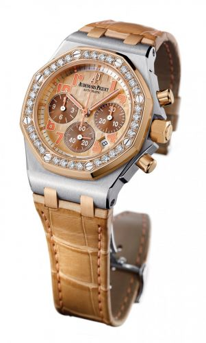 Audemars Piguet 26113SR.ZZ.D804CR.01 : Royal Oak OffShore 26113 Lady Chronograph Suade
