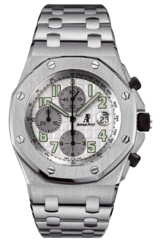 Audemars Piguet 25721ST.OO.1000ST.07 : Royal Oak OffShore 25721 Chronograph Stainless Steel / Silver