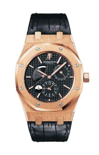 26120OR.OO.D002CR.01 : Audemars Piguet Royal Oak 26120 Dual Time Pink Gold / Black