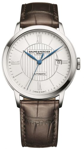 Baume & Mercier 10214 : Classima Automatic 40 Stainless Steel / Silver / Alligator