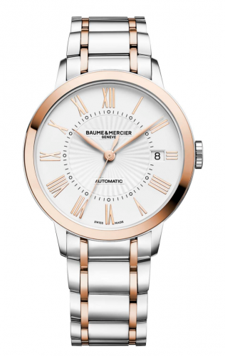 Baume & Mercier 10223 : Classima 36.5 Automatic Stainless Steel / Red Gold / White / Bracelet