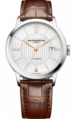 Baume & Mercier 10263 : Classima Automatic 40 Stainless Steel / Silver / Alligator